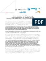 Crc 25 Joint Unicef Cso Statement