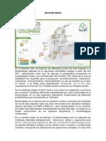 Secciones página Biotecnología en Colombia