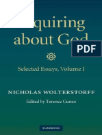 Nicholas Wolterstorff, Terence Cuneo] Inquiring About God