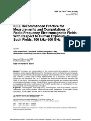 IEE Std C95-3-2002 | Antenna (Radio) | Electromagnetic Radiation