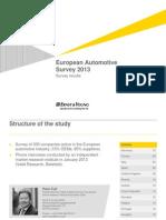 European Automotive Survey 2013 Eng