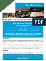 Blue Skies Ontario Ottawa Ideas Incubator