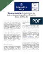 Informativo AACH N°6 Baremo Judicial Estadísticas de Indemnizaciones