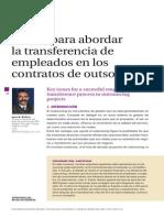 Claves para abordar la transferencia de empleados en los contratos de outsourcing
