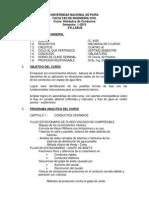 Syllabus de Hidraulica de Conductos