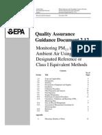 QA Guidance Doc 2.12 EPA-PM2.5