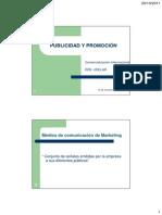 Clase Publicidad y Promocion 2011