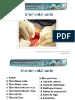 Instrumental de corte cirugía