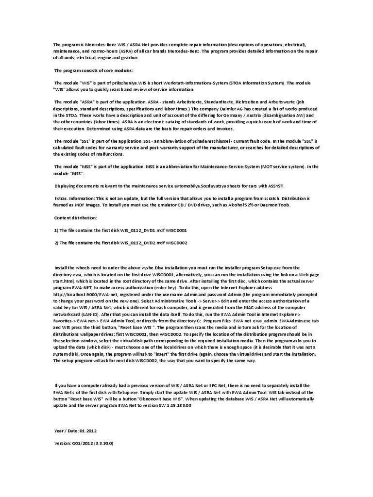 Merc docx | Microsoft Windows | Installation (Computer Programs)