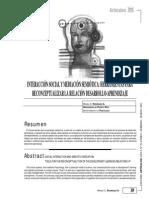 Artículo ''Interacción Social y Mediación Semiótica - Herramientas Para Reconceptualizar La Relación Desarrollo-Aprendizaje''