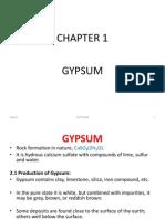 1 Gypsum