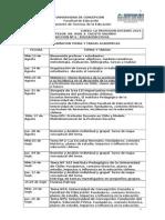 Programa Curso Profesion Docente y Principios 2014
