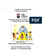 edu 3410 ol1   field experience packet for fall 2014