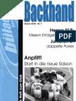 Backhand 2004/2005 Nr. 1