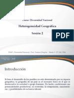 Sesión 03 - Heterogeneidad Geográfica