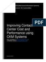 Improving Contact Center Cost and Performance using Customer Knowledge Management Systems