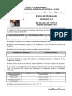 Ficha de Trabalho n.o 8 - 25 de ABRIL