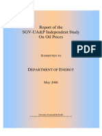 Report of the SGV - UA&P Study on Oil Prices
