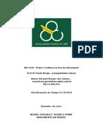 Vigiar e Punir- Focault- Sociedade de Controle- Ricardo.borges -RA 21.000.514