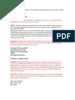 Listado de EstandaresManuales Desarrollo y Control de Calidad SW