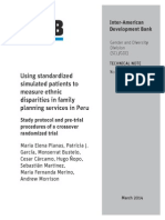 Using Standardized Simulated Patients to Measure Ethnic Disparities in Family Planning Services in Peru