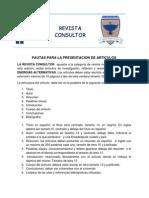 Pautas Para Los Articulos de La Revista Consultor