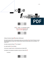 20091231 Époque Freudienne Bulletin Psychologues Freudiens No33