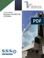 TV-SI-M001 Manual Del Sistema de Gestión Integral