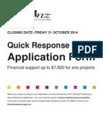 quick response application form