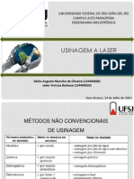 Usinagem a Laser.