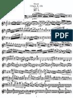 Mozart - 3 Duets, K. 156 (Flute I)