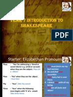 Yr Intro Shakespeare Lesson 2