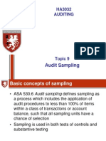 Topic 9 Audit Sampling