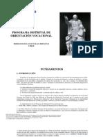 Programa Distrital de Oientacion Vocacional