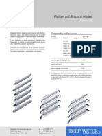 Deepwater Anode Data Sheets