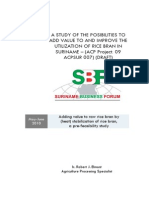A Study of the Posibilities to Improve the Utilization of Rice Bran in Suriname-final Draft 2