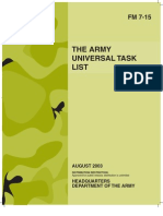 Army - fm7 15 - The Army Universal Task List