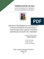 Analisis en Proengineer de Un Eje de Motor y Un Polin Pateador Por Ultrasonido