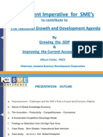 Urgent imperative for SME's to contribute to the national growth and development agenda