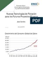 1.1.Nuevas Tecnologías de Flotación Para Los Futuros Proyectos Mineros - Jose Concha