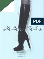 Italian Tales an Anthology of Contemporary Italian Fiction