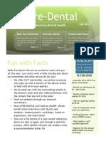 ASDOH ASDA Pre-Dental Newsletter - Fall 2014