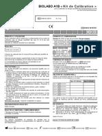 Calibrants Et Contrôles Pour APOLIPOPROTEINES A1-B 1