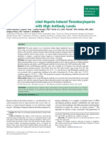 Trombosis en Sospecha inducida por la heparina.
