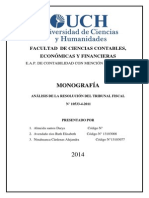 resolucion del tribunal fiscal