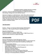 Sr. Market Research