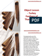 Object Lesson - Turkey Feathers of Thanksgiving