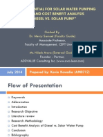 Market potential for solar water pumping system and cost benefit analysis of Diesel vs. Solar pump - Research Thesis Presentation