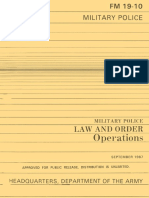 Army - fm19 10 - Military Police - Law and Order Operations