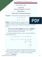 Cramer's Rule_ the Method of Determinants